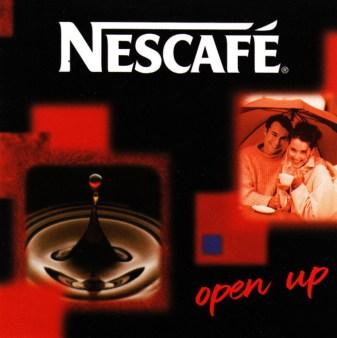 De Zwitserse multinational Nestlé gebruikte de slogan Open Up jarenlang om Nescafé-oploskoffie aan de man te brengen