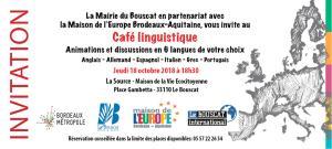 Nos cafés linguistiques reprennent #LeBouscat