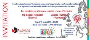 Concours Citoyenneté: Les relations eurafricaines, regards croisés d'écrivains