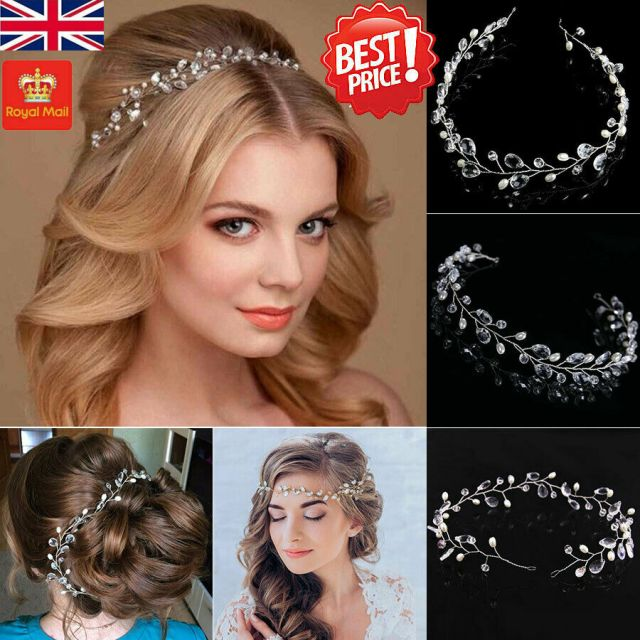 flower crystal diamante and pearls bridal hair comb - silver