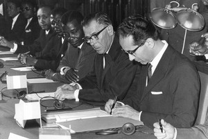 Signature des accords de Yaoundé le 20 juillet 1963