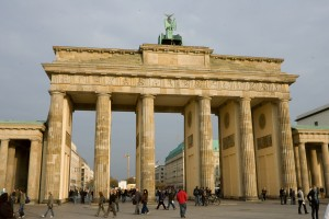 Berlin, capital of Germany. Brandenburg Gate.