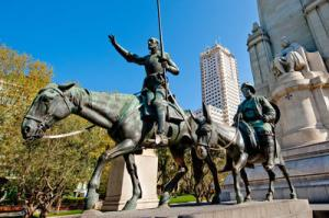 Don Quixote, Sancho Panza and Cervantes