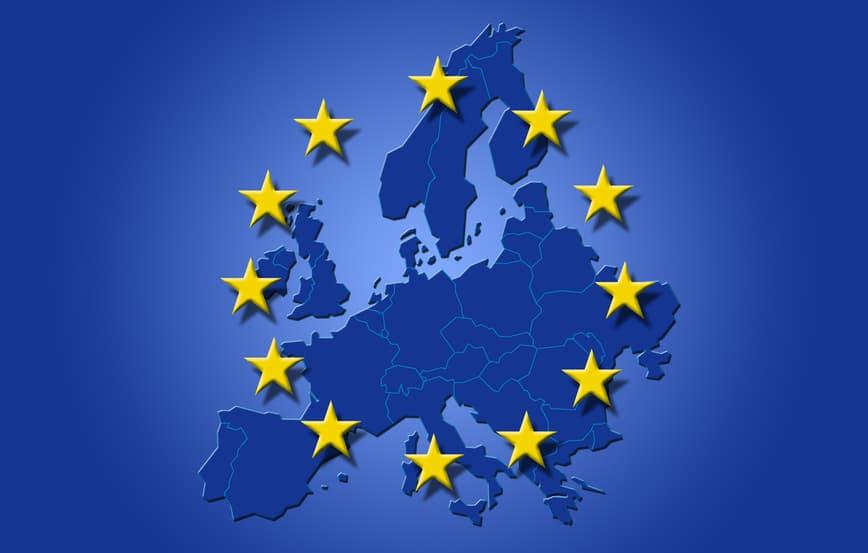 carte europe drapeau