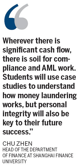 Money laundering fight becomes matter of course for students