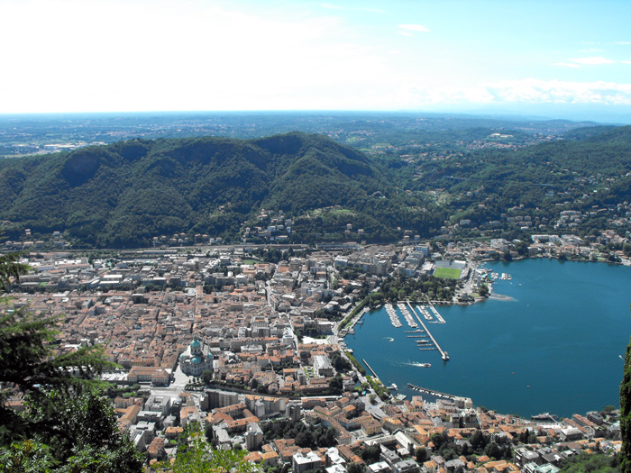 View from Como Italy