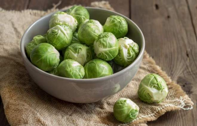 interesting fact: A bowl full of Brussels sprouts