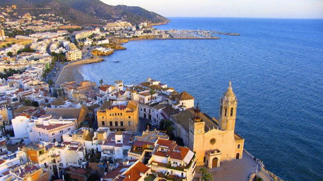 PANORAMIC VIEW OF SITGES