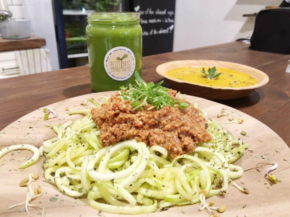 Vegan dish of one f the may vegan restaurants in Barcelona