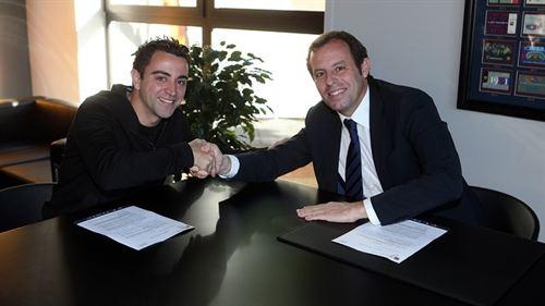 Xavi, que cumplió 700 partidos, es uno de los pilares del Barça. Foto: Miguel Ruiz