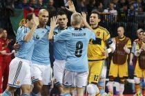 La selección española de Fútbol Sala consigue el bronce en el Europeo de Amberes. (Fuente: EFE)