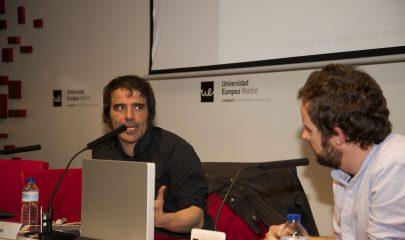 Javier Moya durante la conferencia