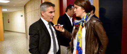 David Cantero y la reportera de Europea Media.