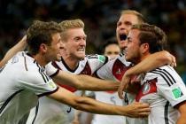 Alemania celebrando la victoria de la copa del mundial 2014