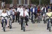 Mariano Rajoy junto a Cristina Cifuentes y Esperanza Aguirre