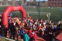 Cientos de corredores se dieron cita en el Campus de la UEM para disfrutar del Cross. (Imagen Juan Mariano Nogales)