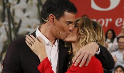Pedro Sánchez y Susana Díaz en el acto de presentación del candidato socialista