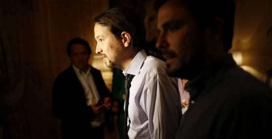 Pablo Iglesias y Garzón el lunes en Madrid / El País