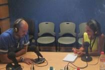 Antonio Pampliega durante la entrevista con Rosa Mª Mateos en Europea Media