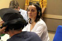 25/04/2017 VILLAVICIOSA DE ODÓN. Pepa Bueno durante su charla con motivo de la XXIII Semana de la Comunicación. Foto: Rebecca Sánchez