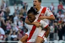 El Rayo Vallecano ha vencido 2-0 al Nàstic.
