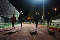 Los atletas durante el entrenamiento / Marina Rivas