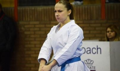 Jessica Moreno durante el ejercicio de una kata / Cedida