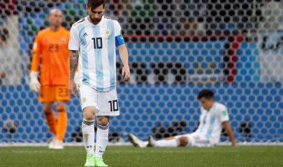 Argentina a nada de quedar fuera de Rusia 2018 (EFE)