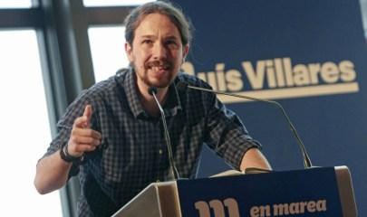 El secretario general de Podemos, Pablo Iglesias, en un mitin para respaldar al candidato de En Marea a la presidencia de la Xunta en 2016 (EFE)