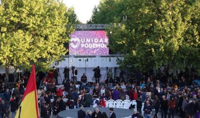 Acto fin de campaña del partido Unidas Podemos / Alexis Peños