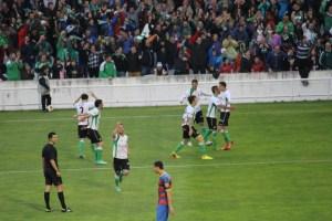 Celebración del gol racinguista. Foto: Arturo Herrera.