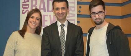 José Pablo López con Irene Broggi y Marcos Magán