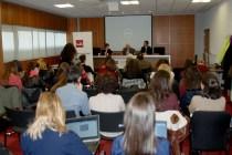 Luis Mateo Díez en el Salón de Grados de la UEM
