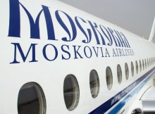 Moscovia Airlines title on a plane