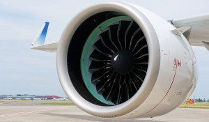 Pratt & Whitney PW1100G-JM engine, which is powering the first A320neo aircraft to fly