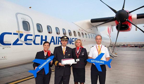 Route opening on 15 September 2014 (© Hamburg Airport)