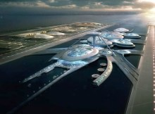 Image of London Britannia Airport in the Thames estuary