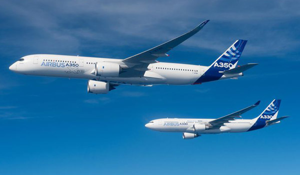 Airbus A350 XWB and A330