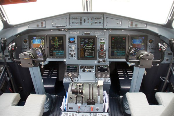 Cockpit of an ATR72-600 (© O. Pritzkow)