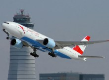 Austrian Airlines Boeing 777-200 at Vienna Airport