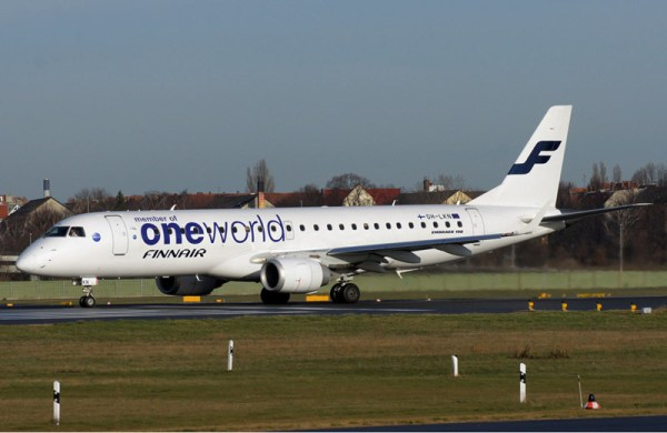 Finnair Embraer 190 in Oneworld cs.