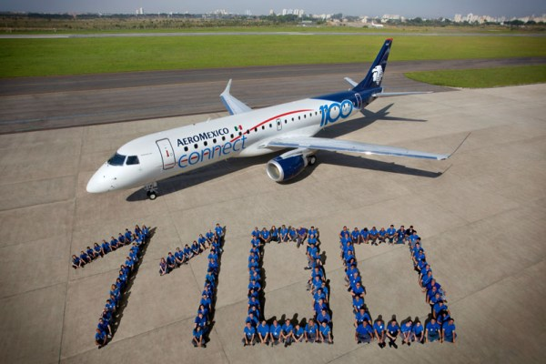 Aeromexico received the 1100th E-Jet from Embraer
