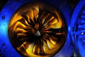 Fan blades of the DLR test system (© DLR)