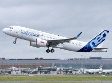 The first A320neo powered by LEAP-1A engines completed its maiden flight (© Airbus)