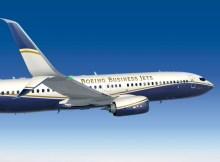 Split Scimitar Winglets are now standard on new BBJs (© Boeing)
