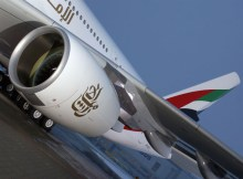 Engine Alliance GP7200 on an Emirates A380 aircraft (© O. Pritzkow)