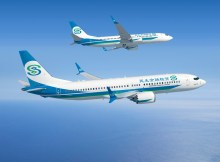 Boeing 737 MAX and 737NG in the livery of Minsheng Financial Leasing (© Boeing)
