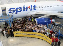 Lufthansa Technik Puerto Rico welcomes Spirit Airlines (© LHT)