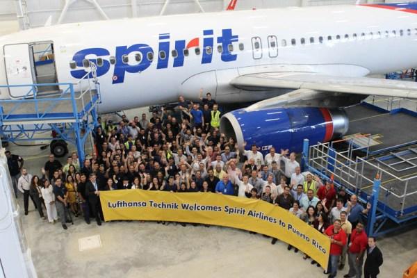 Lufthansa Technik Puerto Rico welcomes Spirit Airlines (© LHT)