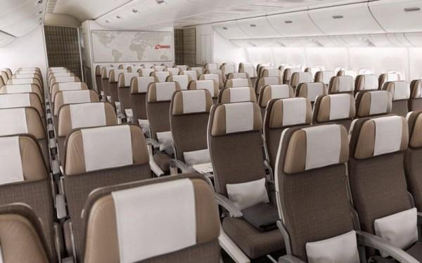 Swiss 777-300ER Economy Class (© Swiss)